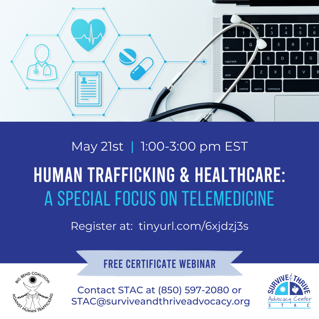 May 24 Webinar Human Trafficking and Healthcare