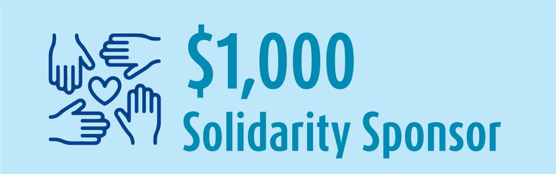 1k Solidarity Sponsor banner