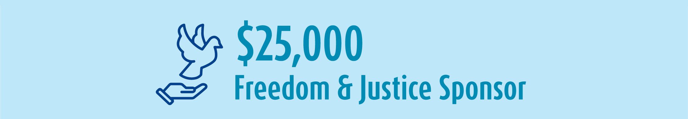 25k Freedom Justice Sponsor banner