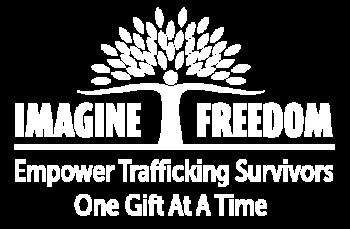 Imagine Freedom Logo Lg white