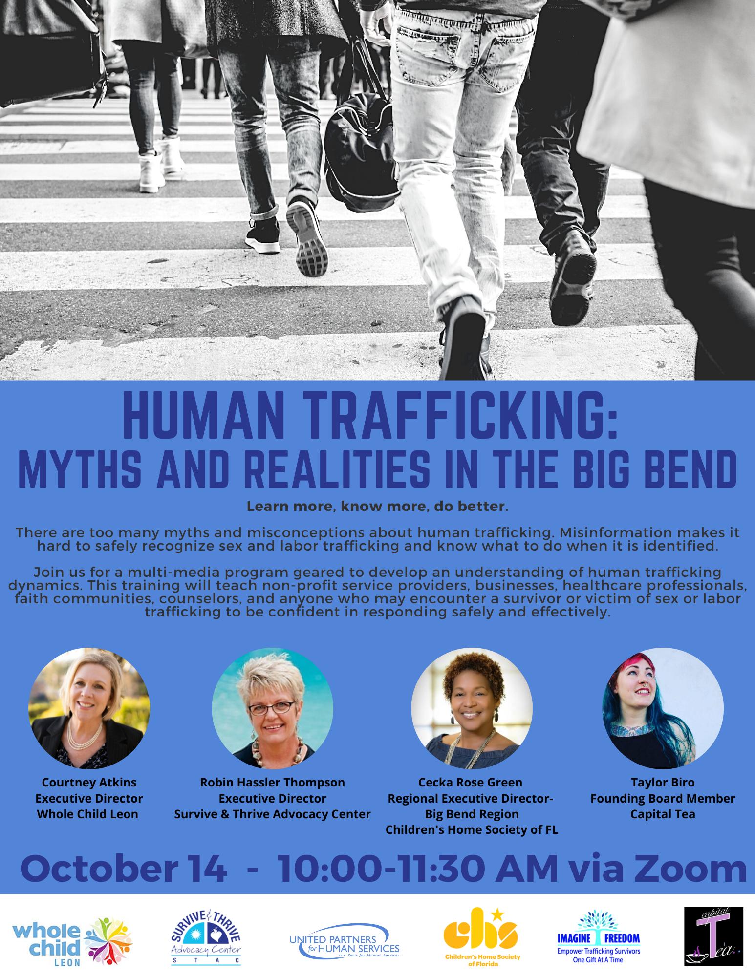 UPHS Human Trafficking Webinar Flier 3